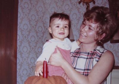 1972 1st birthday with mom