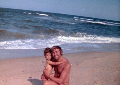 1973 on Sylt with papa