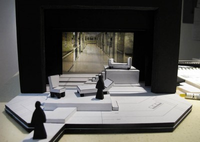 2013 theatre set model for Equus