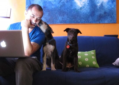 2013 writing with my puppies